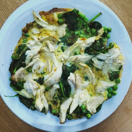Indian spiced chicken 'omelette' (TBC)