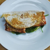 Paprika roasted salmon quesadilla